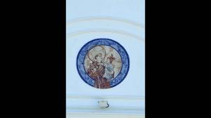 panel religioso en cerámica artesanal