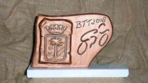Trofeo en cerámica artesanal